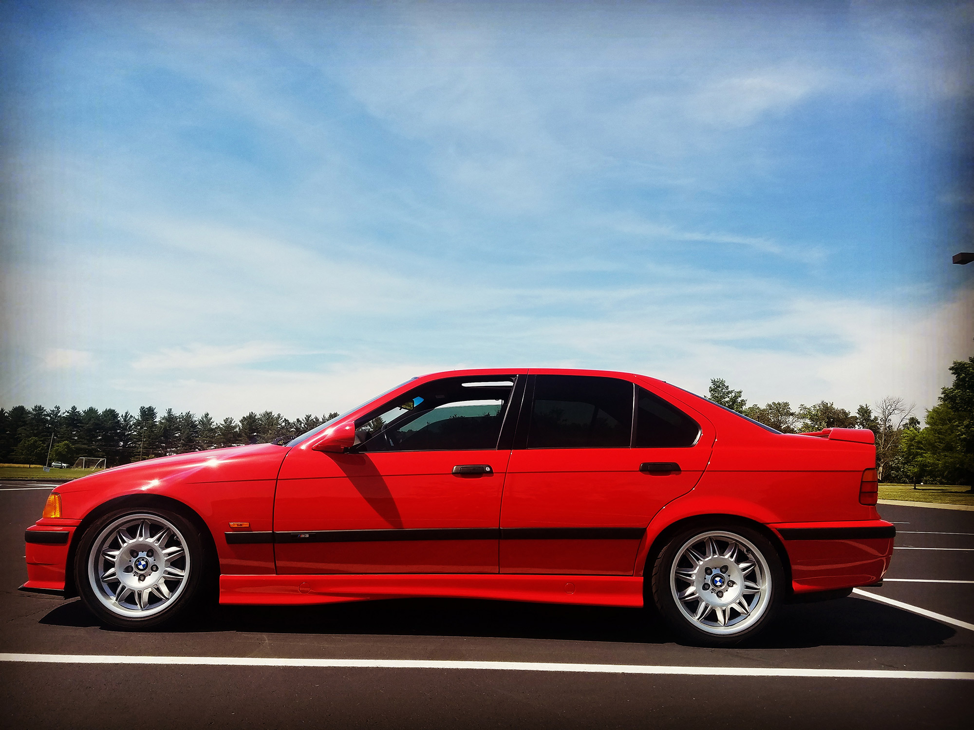 1997 BMW M3 Sedan in Hellrot