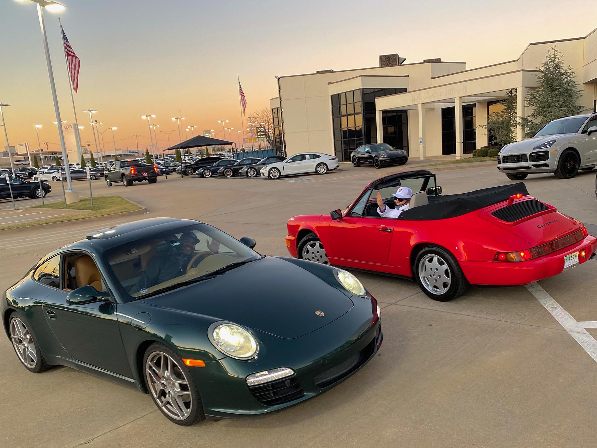 1990 Porsche 911 C2 Cab and 2009 911 Carrera S Coupe
