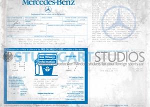 1986 Mercedes-Benz 560SL Roadster Window Sticker