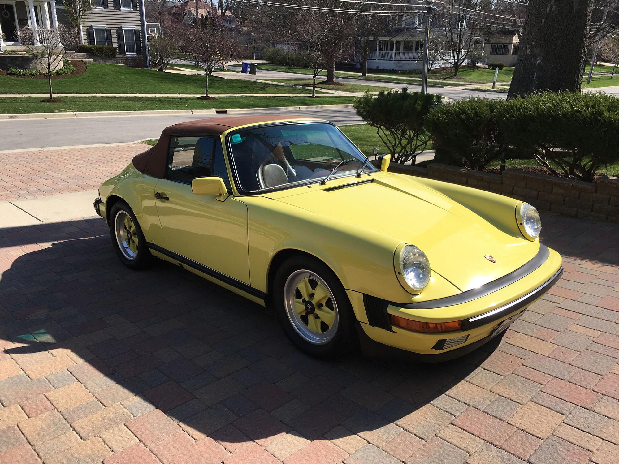 1987 Porsche 911 Cabriolet in Summer Yellow